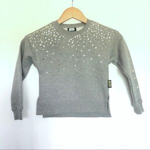 Star Wars Gray Glitter Rebels Sweater